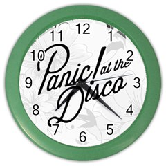 Panic At The Disco Flowers Color Wall Clocks by Onesevenart