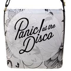 Panic At The Disco Flowers Flap Messenger Bag (s) by Onesevenart