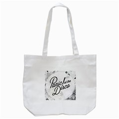 Panic At The Disco Flowers Tote Bag (white) by Onesevenart