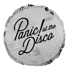 Panic At The Disco Flowers Large 18  Premium Flano Round Cushions by Onesevenart