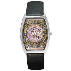 Panic! At The Disco Barrel Style Metal Watch by Onesevenart