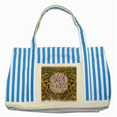 Panic! At The Disco Striped Blue Tote Bag by Onesevenart