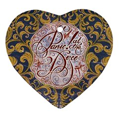 Panic! At The Disco Heart Ornament (two Sides) by Onesevenart