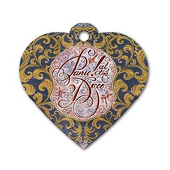 Panic! At The Disco Dog Tag Heart (one Side) by Onesevenart