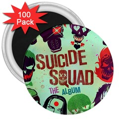 Panic! At The Disco Suicide Squad The Album 3  Magnets (100 Pack) by Onesevenart