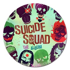 Panic! At The Disco Suicide Squad The Album Magnet 5  (round) by Onesevenart