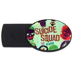 Panic! At The Disco Suicide Squad The Album Usb Flash Drive Oval (2 Gb) by Onesevenart