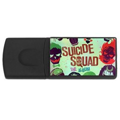 Panic! At The Disco Suicide Squad The Album Rectangular Usb Flash Drive by Onesevenart