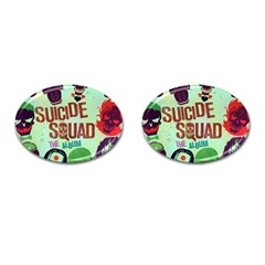Panic! At The Disco Suicide Squad The Album Cufflinks (oval) by Onesevenart
