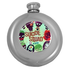 Panic! At The Disco Suicide Squad The Album Round Hip Flask (5 Oz) by Onesevenart