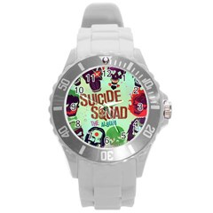 Panic! At The Disco Suicide Squad The Album Round Plastic Sport Watch (l) by Onesevenart