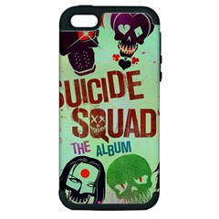 Panic! At The Disco Suicide Squad The Album Apple Iphone 5 Hardshell Case (pc+silicone) by Onesevenart