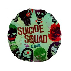 Panic! At The Disco Suicide Squad The Album Standard 15  Premium Flano Round Cushions by Onesevenart