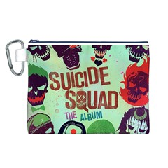 Panic! At The Disco Suicide Squad The Album Canvas Cosmetic Bag (l) by Onesevenart