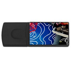 Panic! At The Disco Released Death Of A Bachelor Rectangular Usb Flash Drive by Onesevenart