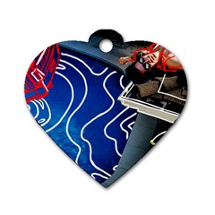 Panic! At The Disco Released Death Of A Bachelor Dog Tag Heart (one Side) by Onesevenart