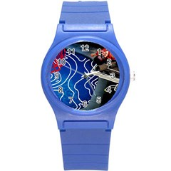 Panic! At The Disco Released Death Of A Bachelor Round Plastic Sport Watch (s) by Onesevenart
