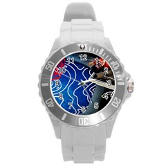 Panic! At The Disco Released Death Of A Bachelor Round Plastic Sport Watch (l) by Onesevenart