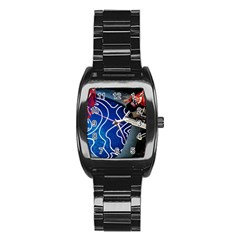 Panic! At The Disco Released Death Of A Bachelor Stainless Steel Barrel Watch by Onesevenart