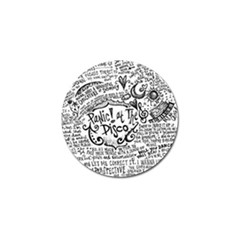 Panic! At The Disco Lyric Quotes Golf Ball Marker (4 Pack) by Onesevenart