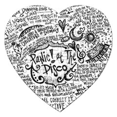 Panic! At The Disco Lyric Quotes Jigsaw Puzzle (heart) by Onesevenart