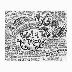 Panic! At The Disco Lyric Quotes Small Glasses Cloth by Onesevenart