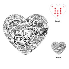 Panic! At The Disco Lyric Quotes Playing Cards (heart)  by Onesevenart