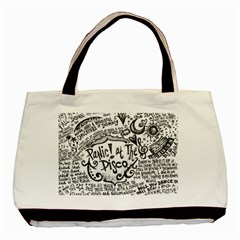Panic! At The Disco Lyric Quotes Basic Tote Bag by Onesevenart