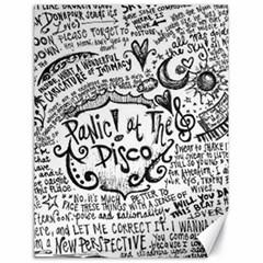 Panic! At The Disco Lyric Quotes Canvas 18  X 24   by Onesevenart