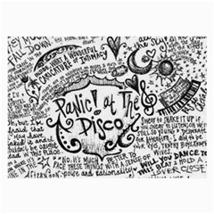 Panic! At The Disco Lyric Quotes Large Glasses Cloth by Onesevenart