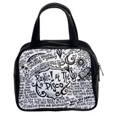 Panic! At The Disco Lyric Quotes Classic Handbags (2 Sides) by Onesevenart