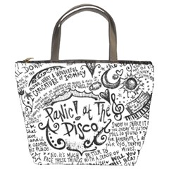 Panic! At The Disco Lyric Quotes Bucket Bags by Onesevenart