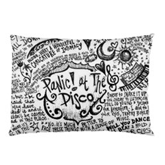 Panic! At The Disco Lyric Quotes Pillow Case by Onesevenart