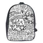 Panic! At The Disco Lyric Quotes School Bag (Large)
