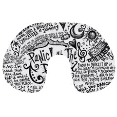 Panic! At The Disco Lyric Quotes Travel Neck Pillows by Onesevenart