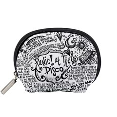 Panic! At The Disco Lyric Quotes Accessory Pouches (small)  by Onesevenart