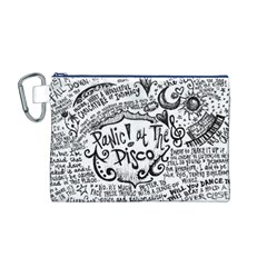 Panic! At The Disco Lyric Quotes Canvas Cosmetic Bag (m) by Onesevenart