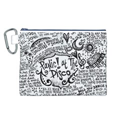 Panic! At The Disco Lyric Quotes Canvas Cosmetic Bag (l) by Onesevenart