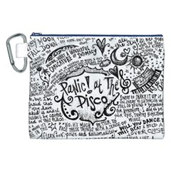 Panic! At The Disco Lyric Quotes Canvas Cosmetic Bag (xxl) by Onesevenart