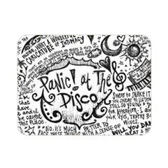 Panic! At The Disco Lyric Quotes Double Sided Flano Blanket (mini)  by Onesevenart