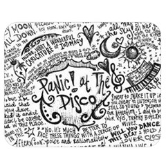 Panic! At The Disco Lyric Quotes Double Sided Flano Blanket (medium)  by Onesevenart