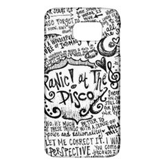 Panic! At The Disco Lyric Quotes Galaxy S6 by Onesevenart