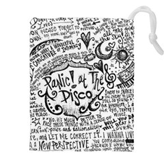 Panic! At The Disco Lyric Quotes Drawstring Pouches (xxl) by Onesevenart