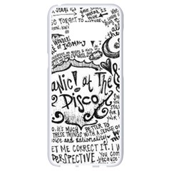 Panic! At The Disco Lyric Quotes Samsung Galaxy S8 White Seamless Case by Onesevenart