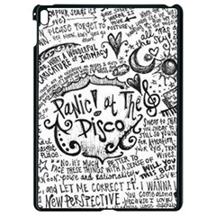 Panic! At The Disco Lyric Quotes Apple Ipad Pro 9 7   Black Seamless Case by Onesevenart