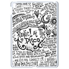 Panic! At The Disco Lyric Quotes Apple Ipad Pro 9 7   White Seamless Case by Onesevenart