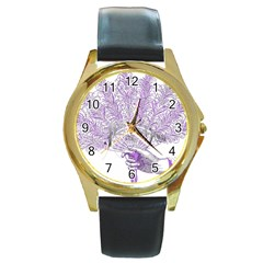 Panic At The Disco Round Gold Metal Watch by Onesevenart
