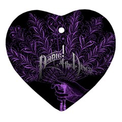 Panic At The Disco Ornament (heart) by Onesevenart