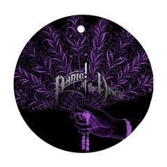 Panic At The Disco Round Ornament (two Sides) by Onesevenart