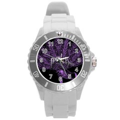 Panic At The Disco Round Plastic Sport Watch (l) by Onesevenart